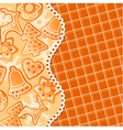 gingerbread background vector image