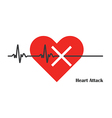 heart pulse attack vector image vector image