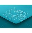 Birthday envelope blue vector image