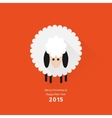 Christmas sheep greeting card vector image