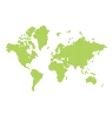 halftone world map vector image