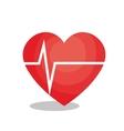 heart cardio isolated icon vector image