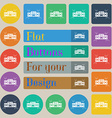 Radio cassette player icon sign Set of twenty vector image