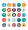 robotics colored icons vector image