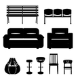 Set of seats vector image