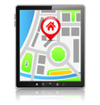 Tablet PC with Map vector image