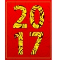 Year 2017 graphic emblem vector image