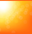 sunbeam background with bokeh vector image