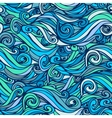 Seamless marine wave patterns vector image