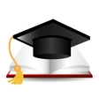 Graduate education design vector image
