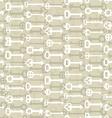 Key to lock seamless pattern Vintage door key vector image