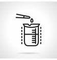 Chemical analysis simple line icon vector image