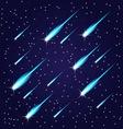 Flying meteors vector image