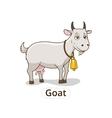 Goat animal cartoon for children vector image