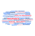 Insurance Word cloud vector image