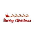 Merry Christmas Xmas greeting card vector image