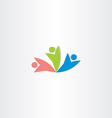 people teamwork workers icon design vector image