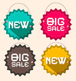 Retro Big Sale and New Title on Circle Paper vector image