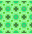 seamless pattern with green blue and black vector image