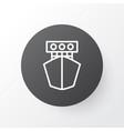 yacht icon symbol premium quality isolated ship vector image