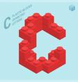 plastic blocs letter c vector image