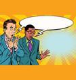 two businessmen shocked multi-ethnic group vector image