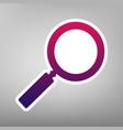 zoom sign   purple gradient vector image