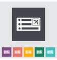 Air ticket vector image vector image