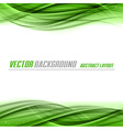 abstract green white center vector image vector image