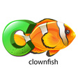 A letter C for clownfish vector image
