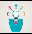 businessmen think multi-direction arrow vector image
