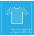 T-shirt sign  White section of icon vector image