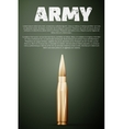 Army poster Graphic template vector image