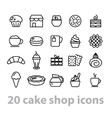 cake shop icons collection vector image