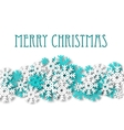 Christmas background with snowflakes ornament vector image