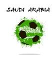 Flag of Saudi Arabia as an abstract soccer ball vector image