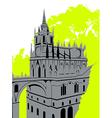 Grey castle vector image