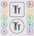 happy family icon sign symbol on the Round and vector image