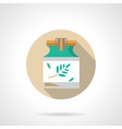 Herbal ointment flat color design icon vector image