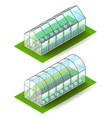 isometric greenhouse isolated on white vector image