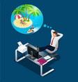 isometric office worker or businessman in the vector image