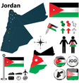 Map of Jordan vector image