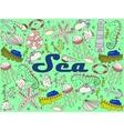 Sea line art design vector image
