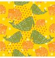 animal kid pattern vector image vector image