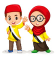 Boy and girl from Brunei vector image