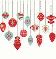 Christmas Ornaments Decorations vector image