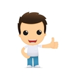 Funny cartoon casual man vector image
