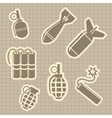 Military rocket and dynamit icons vector image vector image