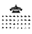 Black weather icons isolated on white background vector image
