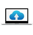 Cloud Computing Icon In Laptop vector image